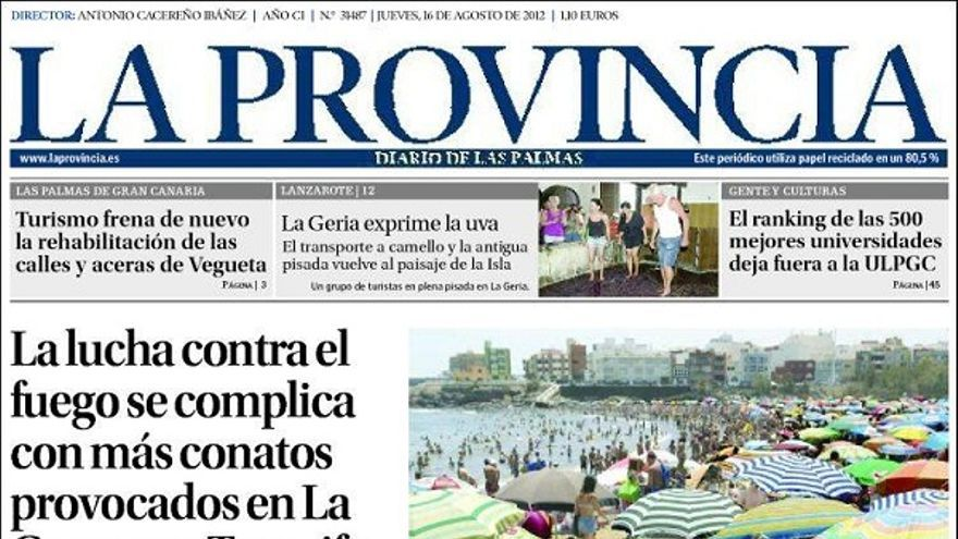 De las portadas del día (16/08/2012) #1