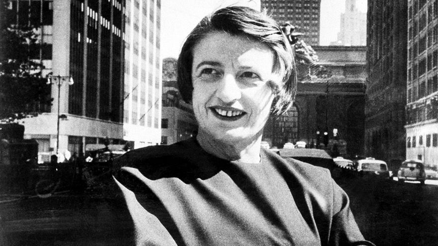 Fotografía tomada a Ayn Rand en 1962 en Nueva York. AP