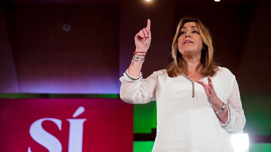 Susana Díaz vuelve a arropar hoy a Pedro Sánchez en un mitin en Jerez