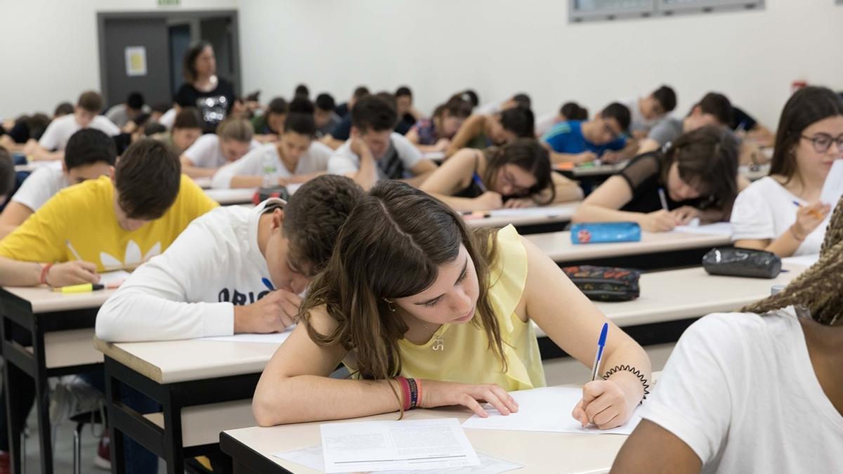 Alumnos de 2º de Bachillerato en las pruebas de Selectividad del curso pasado
