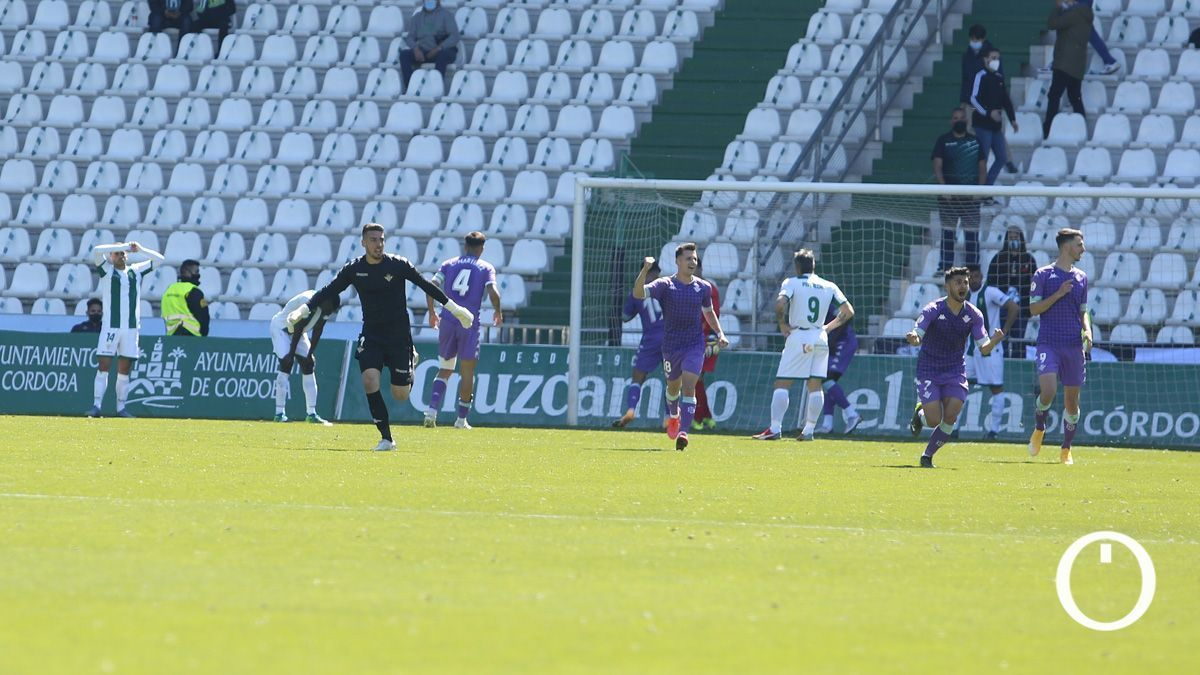 Gol del Betis Deportivo al Córdoba en El Arcángel