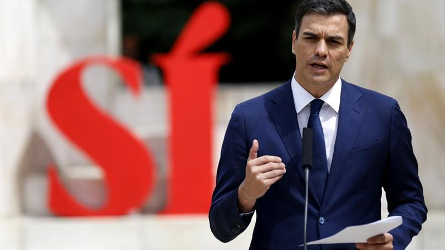 Sánchez fija seis principios para pactar, entre ellos, el no al referéndum