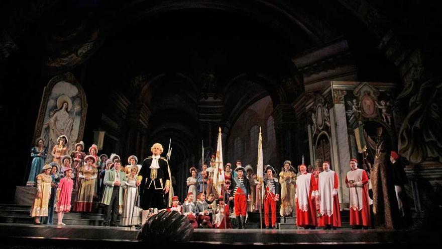 Representación de la la ópera 'Tosca' de Puccini que recalará en Torrelavega.