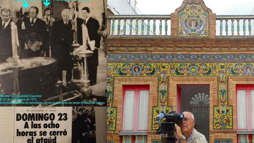 La histórica imagen de 1975, con Ovalle en la actualidad.