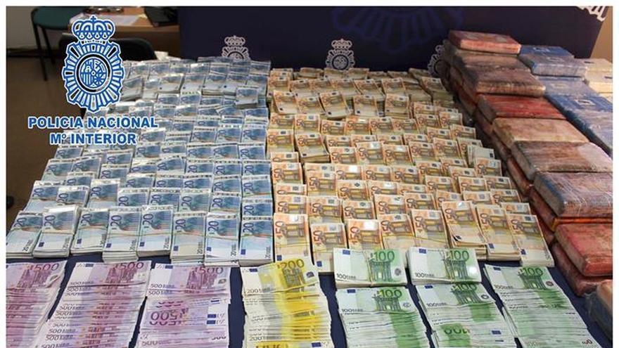 Desarticulan una banda con 104 kilos de cocaína y un millón en efectivo