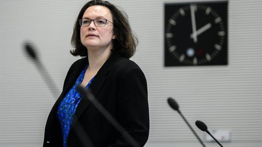 """El SPD afirma que su preacuerdo con Merkel tiene el """"sello"""" socialdemócrata"""