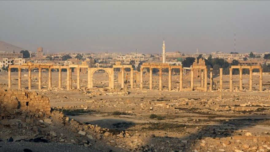 Varios cohetes caen cerca de un templo en Palmira, sin causar daños