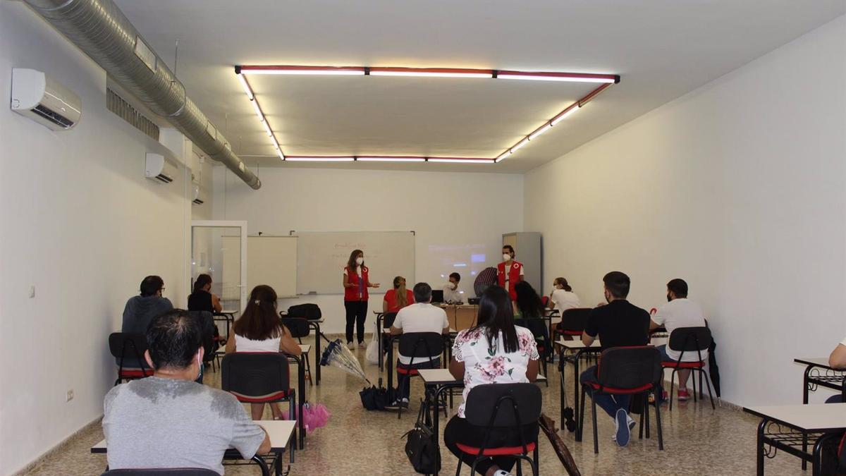 Participantes en el curso de Cruz Roja.