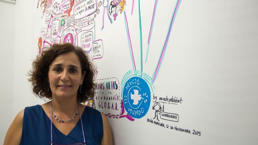Yolanda Rodríguez, presidenta de Médicos del Mundo Navarra.
