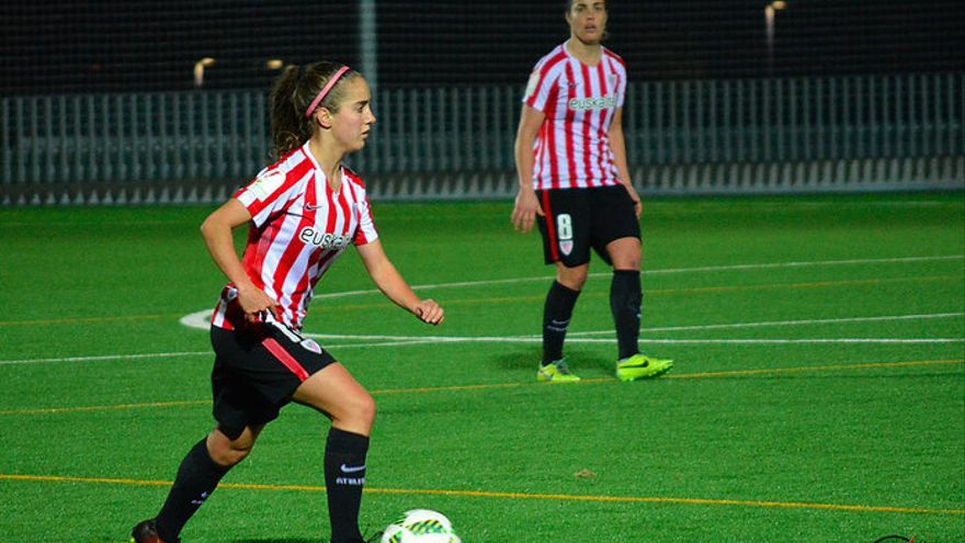 Maite Oroz, durante un partido con el Athletic. Foto: Athletic en Femenino