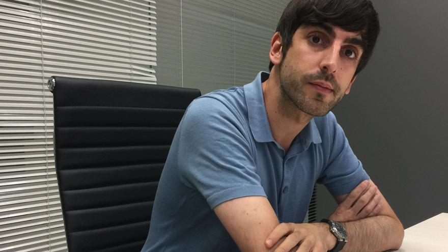 El secretario Político de Podemos en Euskadi y congresista, Eduardo Maura.