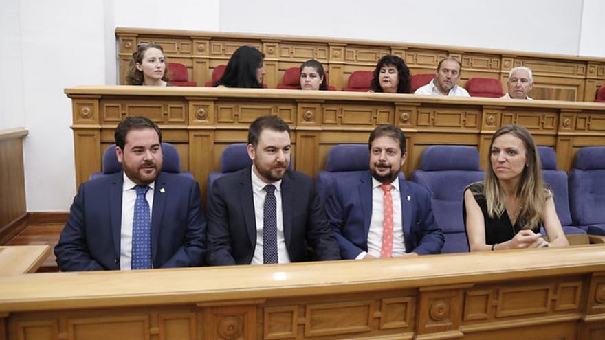 De izquierda a derecha Pablo Camacho, Antonio Sánchez Requena, Francisco Pérez Torrecilla y Mª Jesús Merino