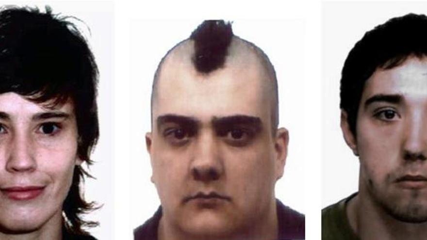 Detenidos tres presuntos miembros de un grupo anarquista antisistema