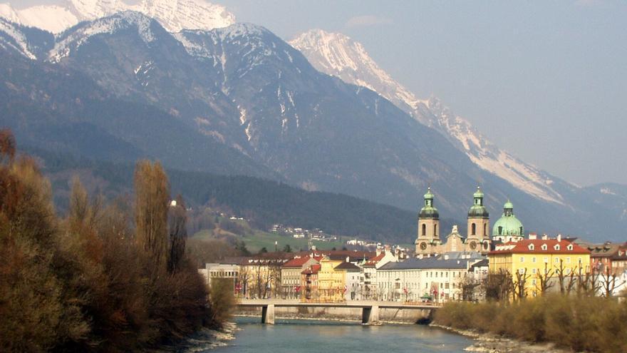El Río Eno (Inn) a su paso por Innsbruck. Stephan Mosel
