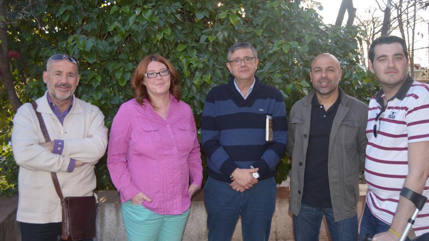 Encuentro entre la Plataforma por la Ley de Dependencia de Castilla-La Mancha y Podemos Castilla-La Mancha / Foto: Javier Robla