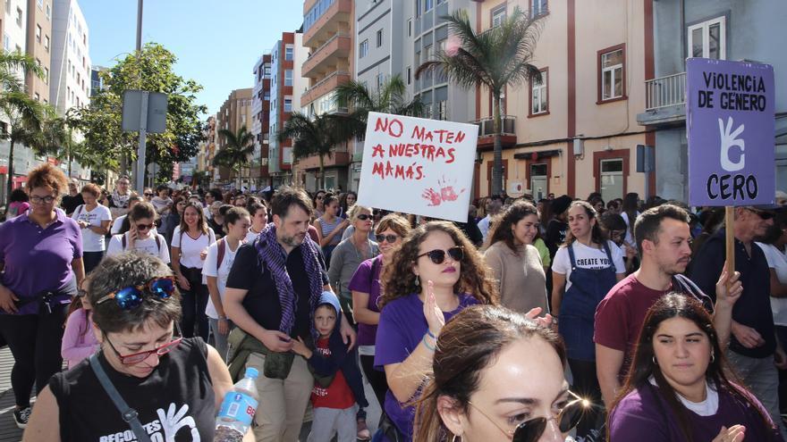 Manifestación contra la violencia machista en Las Palmas de Gran Canaria.