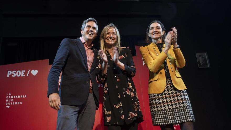Pablo Zuloaga, Susana Herrán y Reyes Maroto. | PSOE