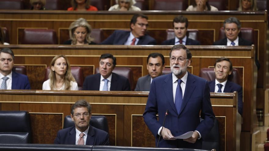 Rajoy justifica los registros en la Generalitat porque son por orden de un juez para que se cumpla la ley