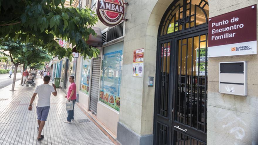 Punto de encuentro en el que se produjo el último asesinato machista en Zaragoza.
