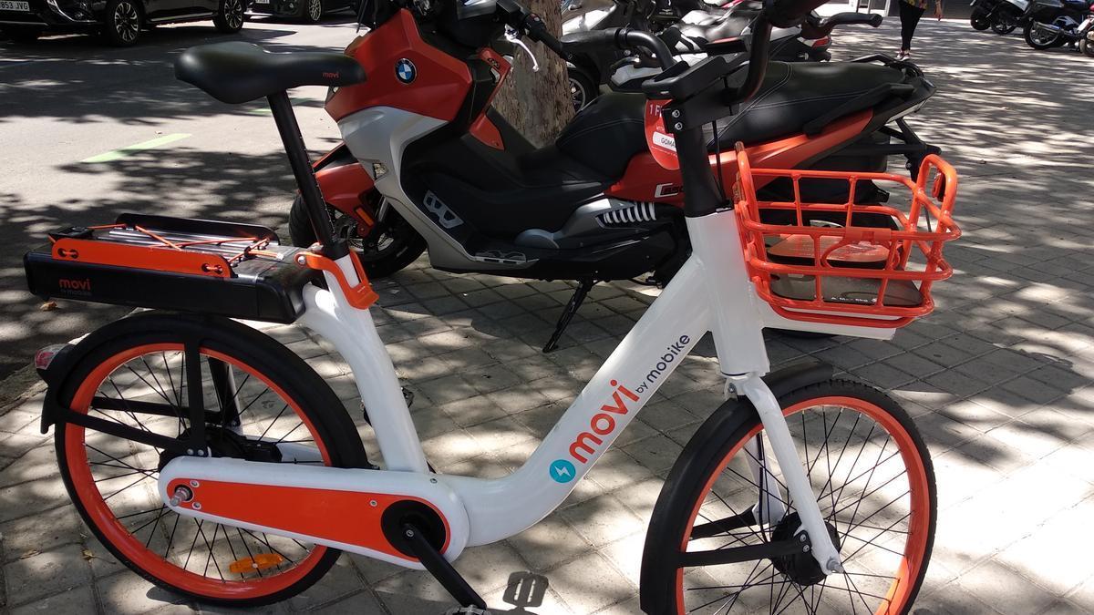 Una de las bicicletas del servicio Movi.