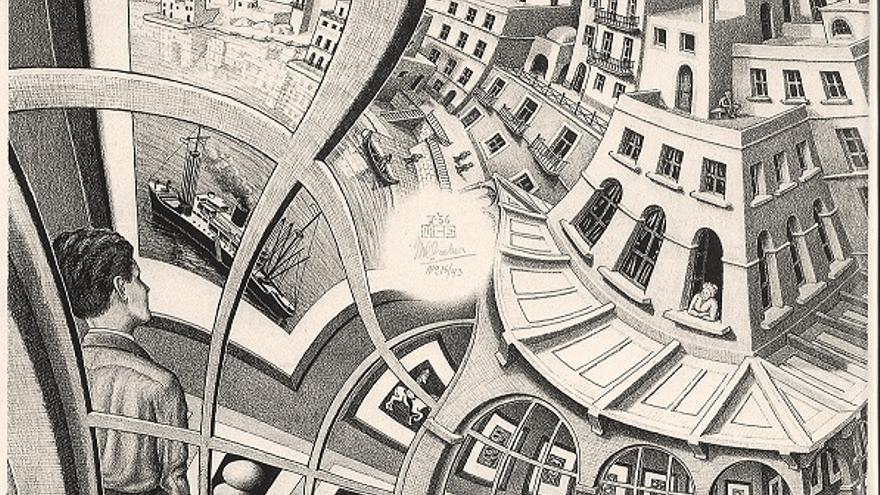 Galería de grabados 1956 Litgrafía, 31,9x31,7 cmo The Escher Foundation Collection All M.C. Escher works © 2017 The M.C. Escher Company. All rights reserved