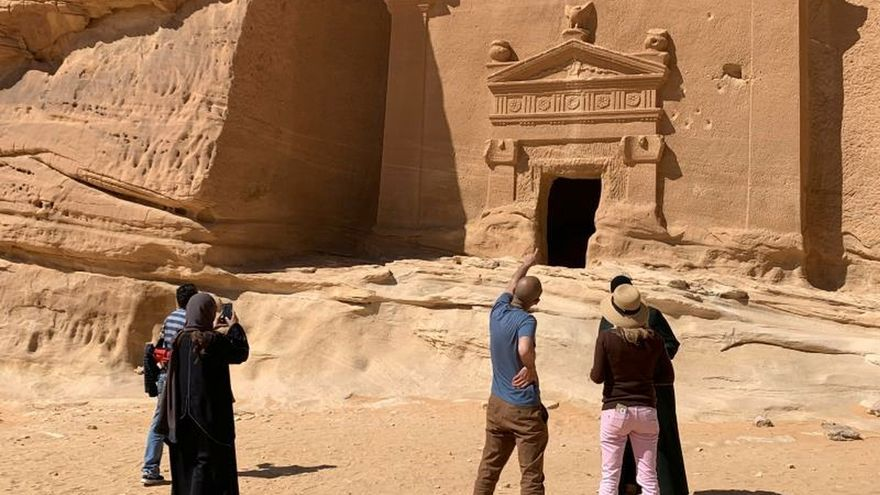 Un oasis arqueológico digno de Indiana Jones se abre al mundo en Arabia Saudí