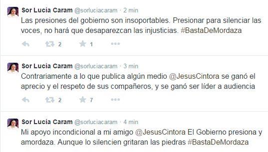 Mediaset destituye a Jesús Cintora como presentador de 'Las mañanas de Cuatro' Caram-tweets-1