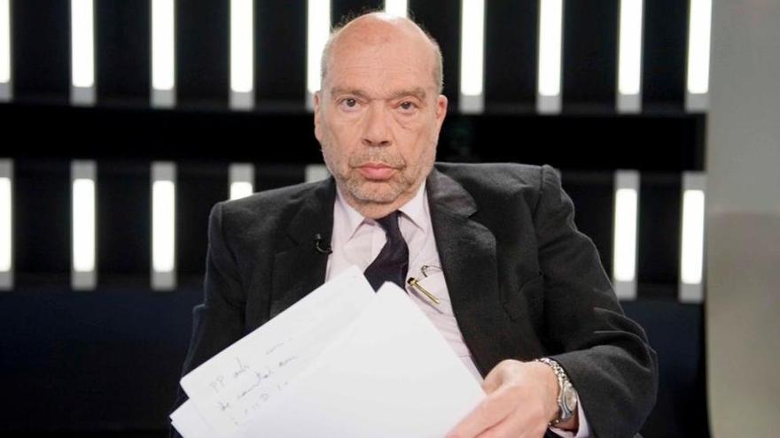 El periodista Alfons Quintà, en un fotograma de TVE
