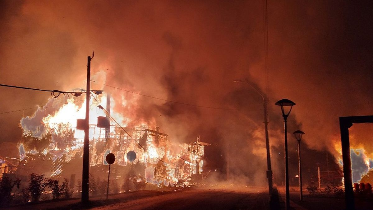 Un total de 10 edificios públicos fueron totalmente destruidos en Chile.