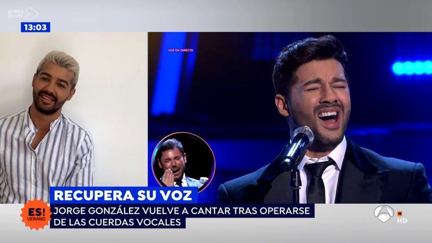 Jorge González recuerda en 'Espejo Público' cómo fue su actuación en 'Tu cara me suena'