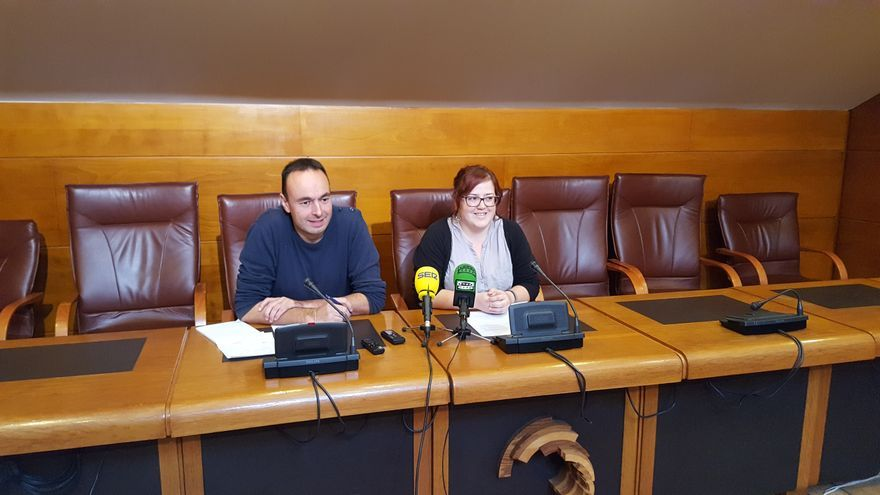 José Ramón Blanco y Verónica Ordóñez, diputados de Podemos Cantabria.