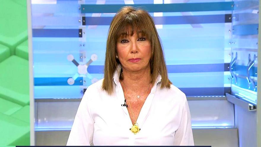 Ana Rosa Quintana, durante su primer speech de la temporada