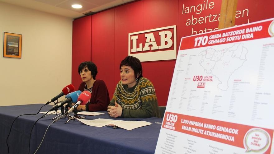 LAB cifra en más de 1.200 las empresas se han adherido a la huelga general del próximo día 30