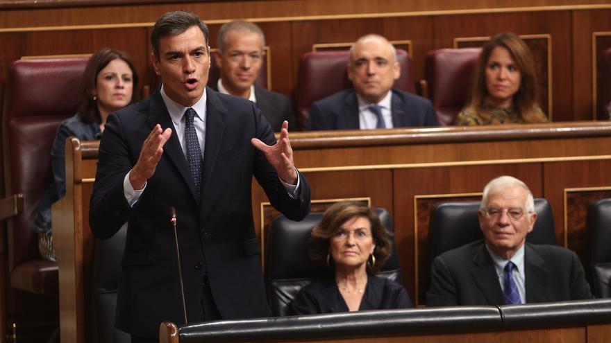 """Casado avisa a Sánchez que """"las elecciones las carga el diablo"""" y éste pide """"mayoría más rotunda"""" para evitar bloqueos"""