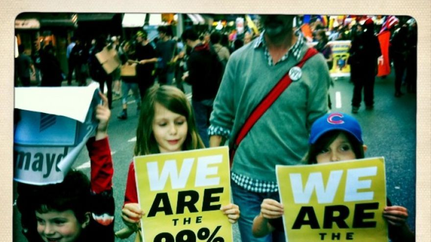 El 99% en el 1º de mayo de 2012 (foto: Leónidas Martín)