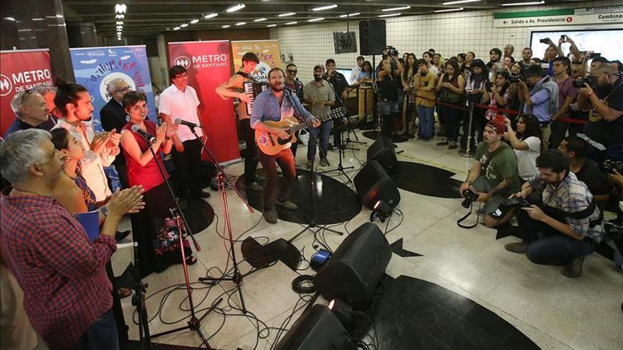 El Festival Womad Chile arranca en el Metro de Santiago