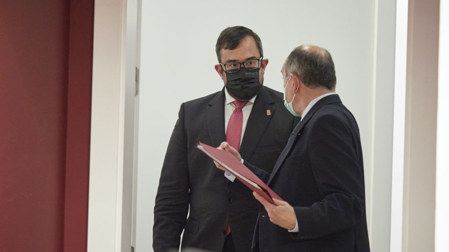 Archivo - El portavoz del Gobierno de Navarra, Javier Remírez