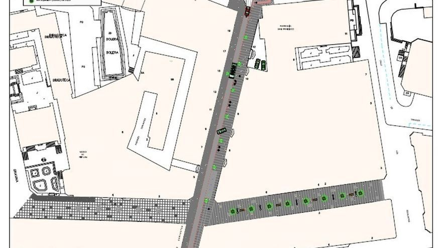 Trece empresas optan a ejecutar la semipeatonalización de la calle Cervantes