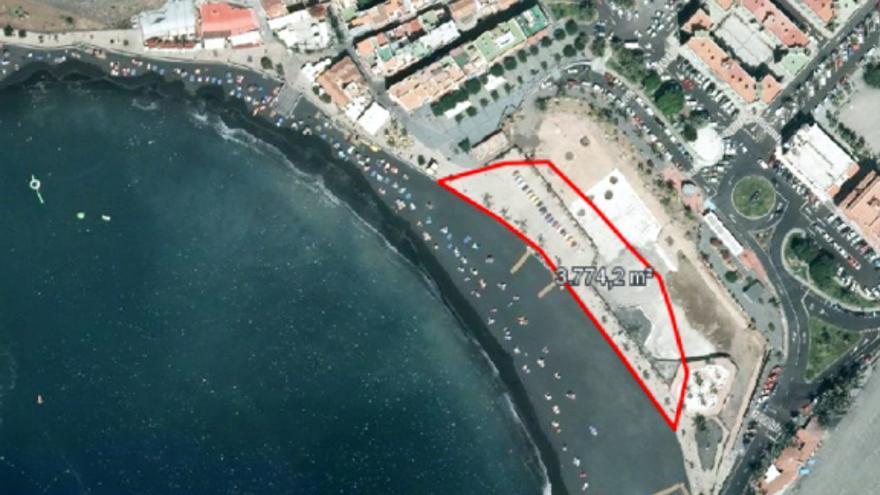 Retranqueo del Puerto de Tazacorte.