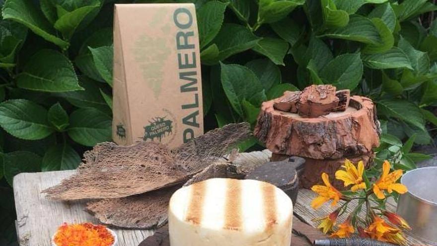 Imagen de un queso palmero con Denominación de Origen.