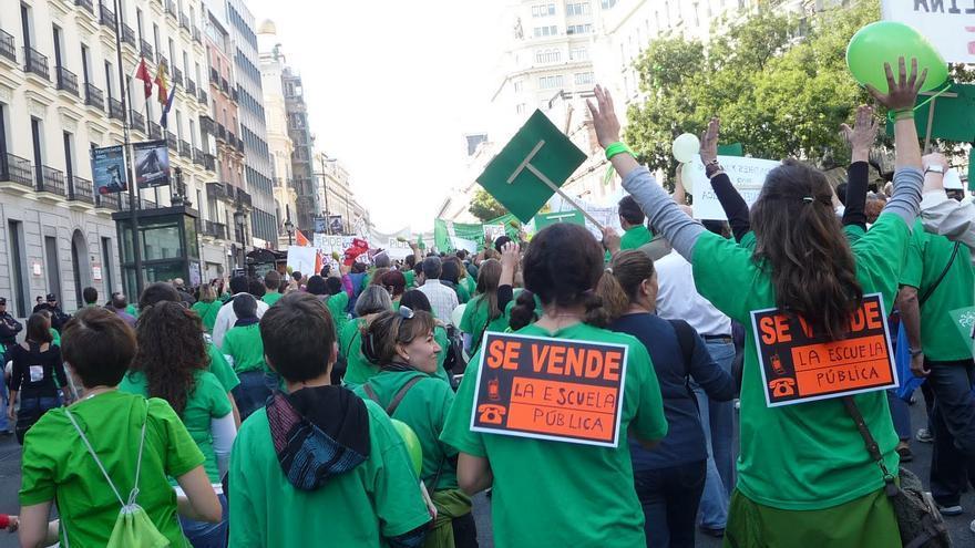 Manifestación por la Educación Pública   Soypublicaclm