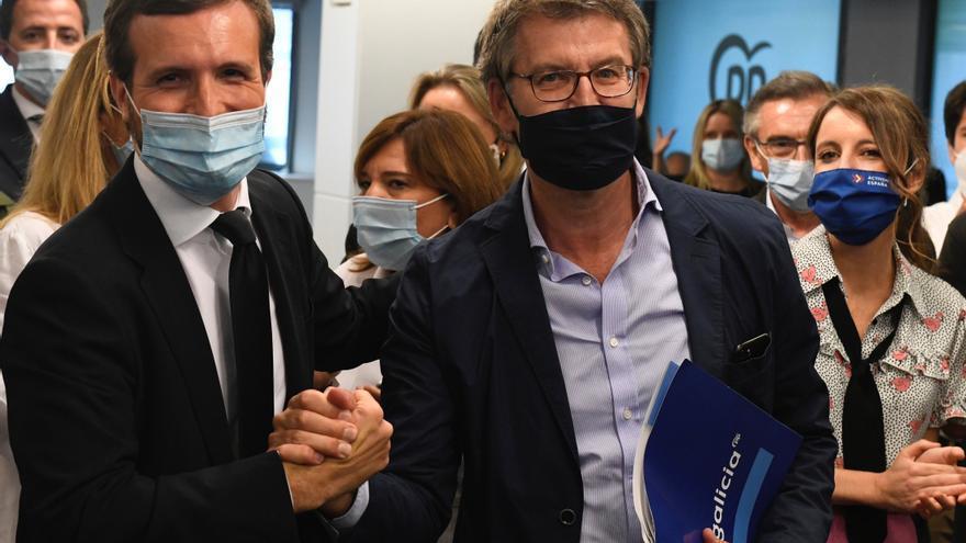 Casado: La victoria de Feijóo es el mejor aval para que el PP gane en España
