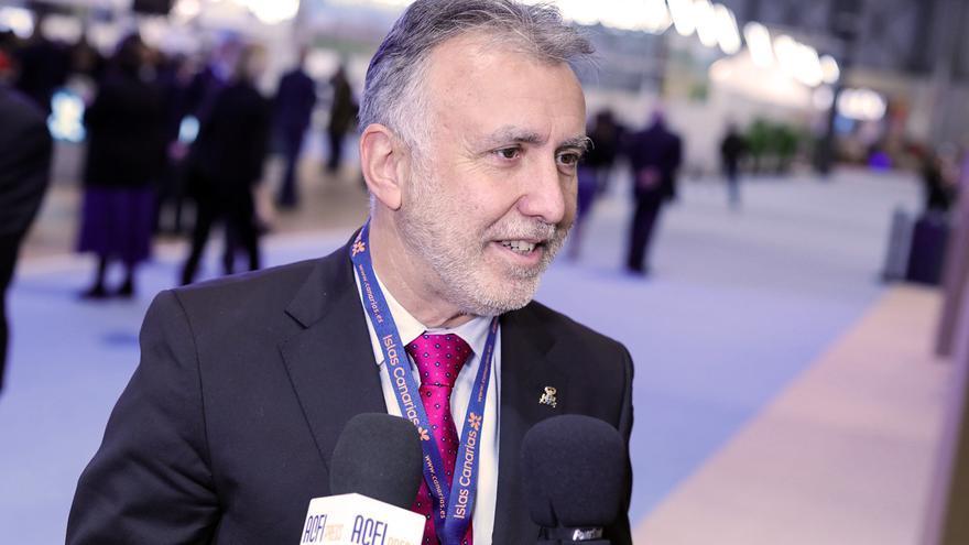 El presidente del Gobierno de Canarias, Ángel Víctor Torres, en Fitur.