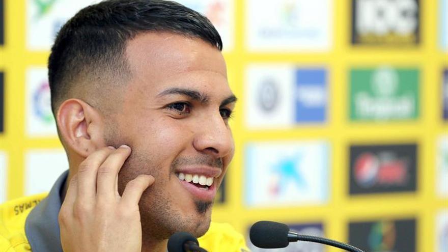 El centrocampista de la UD Las Palmas, Jonathan Viera