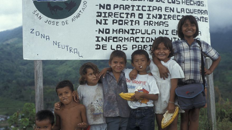 Menores de la comunidad San José Apartadó, Colombia