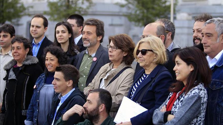 La alcaldesa y los concejales de Ahora Madrid.