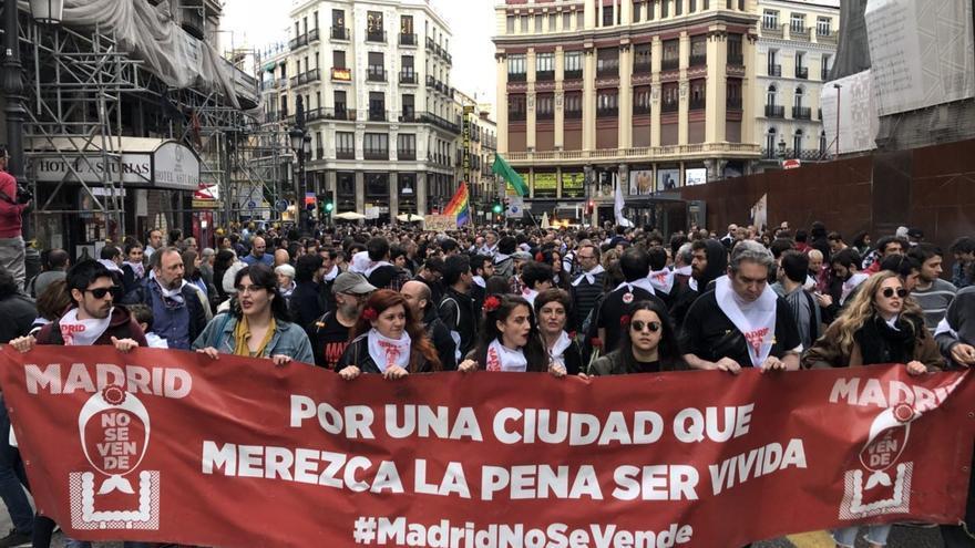 Manifestación en la capital bajo el lema #MadridNoSeVende