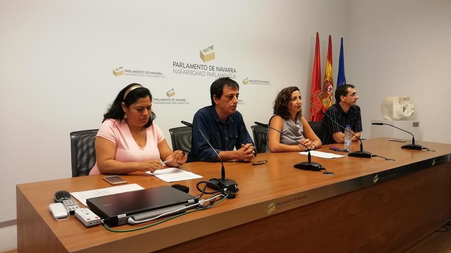 El Parlamento de Navarra rechaza el escrito de Orain Bai para expulsar a los tres parlamentarios de Podemos