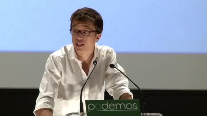 El responsable de la campaña de Podemos, Iñigo Errejón