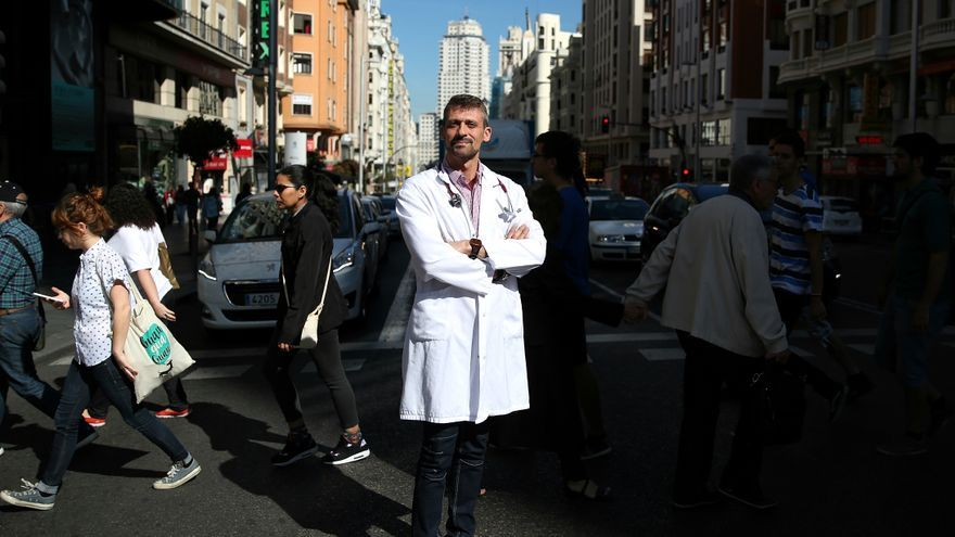 El doctor de Urgencia del hospital de Alcorcón Juan Manuel Parra / MARTA JARA